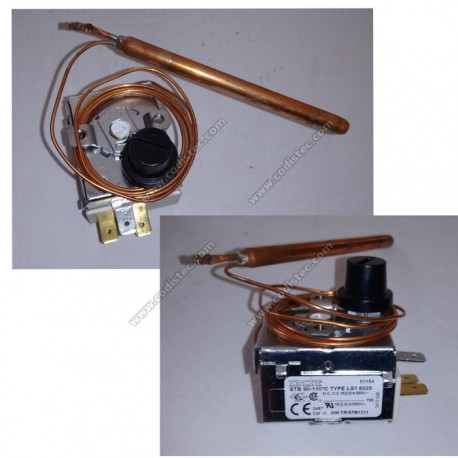 Adjustable safety thermostat  90º a 110º manual reset