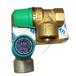 6 bar safety valve for solar thermal energy
