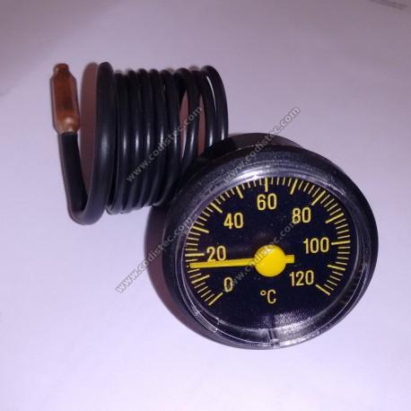 Thermometer 0 º to 120 º black