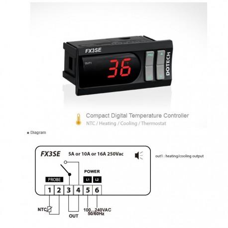 Termóstato digital FX3SE-16P-00-C 105ºC 1 relé NTC5K