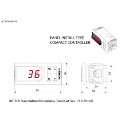 FX3S digital thermostat 150 º C 1 relay NTC5k