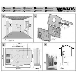 Termostato ambiente programável Watts Ecolux