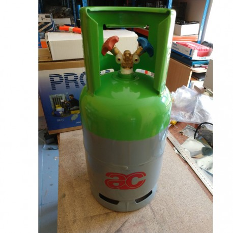 Refrigerant canister with double valve (10 to 12Kg)