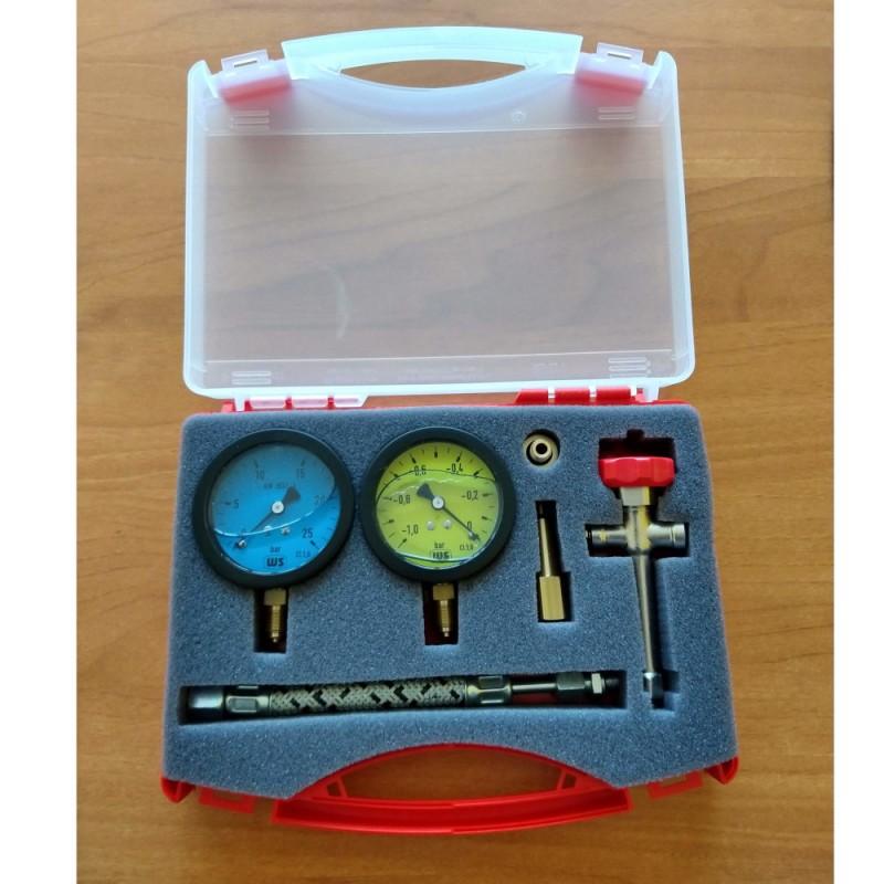 Kit pressure gauges for diesel pumps (vacuum + pressure)