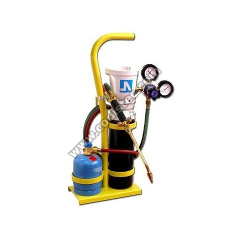 Oxygen-Propane welding set. Mini 2Lts
