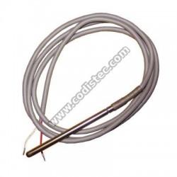 Sonda PT100 -50º +200º cabo silicone