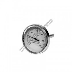 "Immersion Thermometer 0-120 º C sheath 10cm 1/2 ""M"