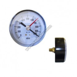 Manómetro vacuômetro 80mm POS