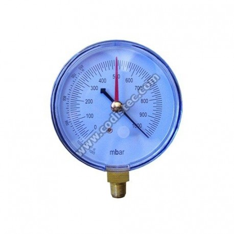 Vacuum gauge 80mm bottom connection