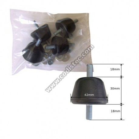 Rubber shock absorber 100K pack