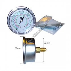 Manómetro de painel (refrigeração baixa)