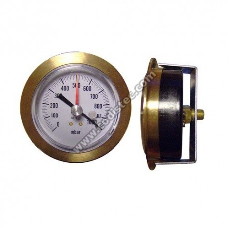 80mm manometer vacuum gauge with frame