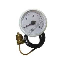 Manómetro pressão 0 a 4 bar para caldeira