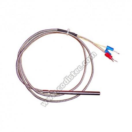 Sonda PT100 3 fios 0ºC +400ºC