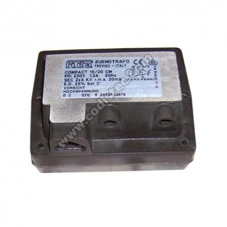 FIDA ignition transformer compact 10/20 CM 2x5kv