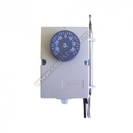 Termostato regulável sonda inox -35º a +35º