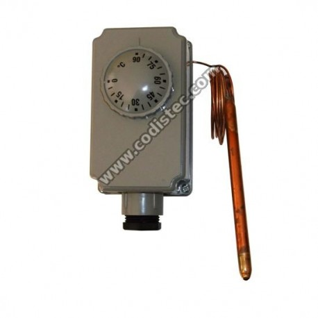 Adjustable capillary thermostat 0 º to 90 º