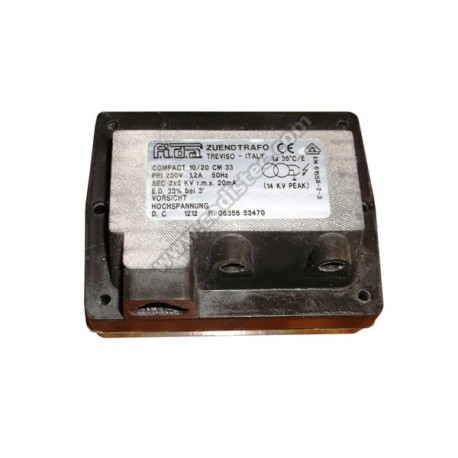 FIDA ignition transformer compact 10/20 CM 2x5kv
