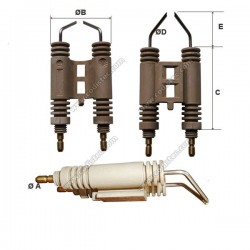 Double electrode R.B.L. burners