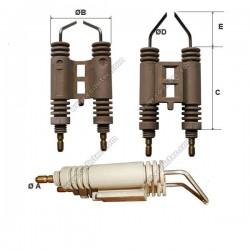 Electrodo de ignição R.B.L. duplo