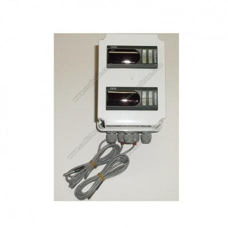 Caixa plástica para dois termostatos de painel