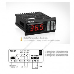 Digital thermostat FX3QR 800º 4 relays PT100
