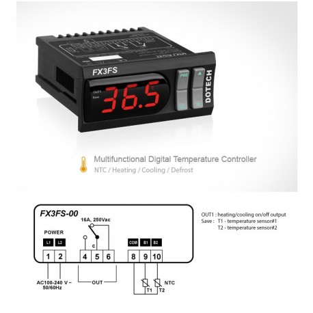 Digital differential thermostat FX3FS 150 º C