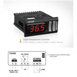 Digital thermostat FX3SR 800ºC 1 relay PT100