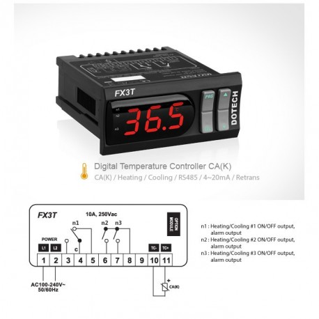 Digital thermostat FX3T 1000ºC