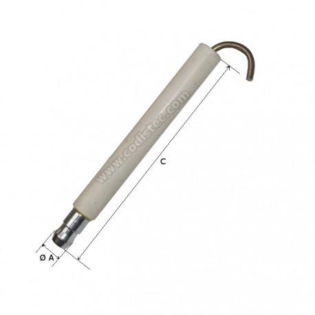 Electrodo ignição Bentone STG120 e BG200-ST