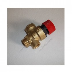 "Safety valve 3 bar 1/2 ""M with connection for pressure manometer"