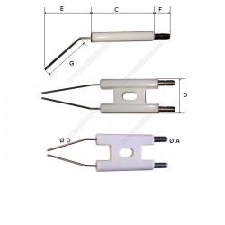Electrodo de ignição duplo Shell 400 ULV-S