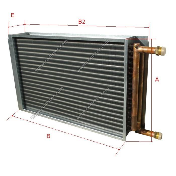 Air Heat Exchanger ~ Kw heat exchanger air water codistec