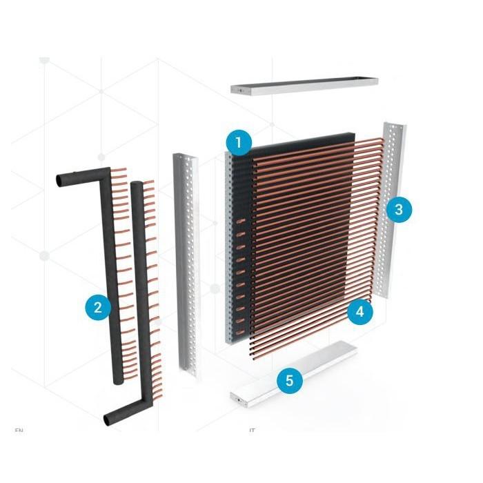 Air Heat Exchanger ~ Heat exchanger air water kw codistec