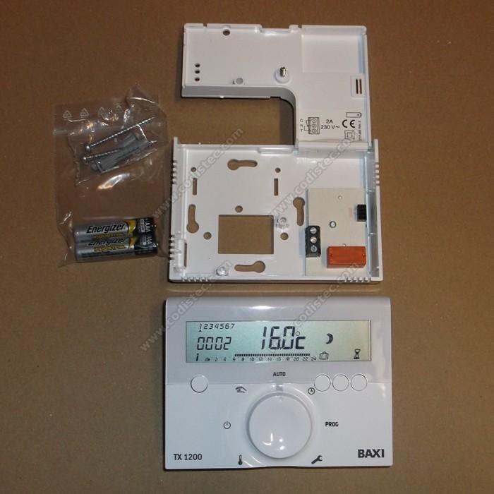 Termostato ambiente programavel tx 1200 por fios codistec for Baxi termostato ambiente