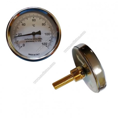 "Immersion Thermometer 0-120 º C 5cm sheath 1/2 ""M"